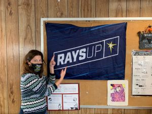 Ms, Herring loves the Rays!