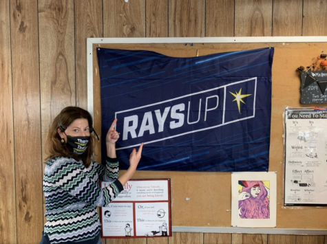 As the new season begins, fans including Mrs. Herring, get ready to show their Rays spirit.