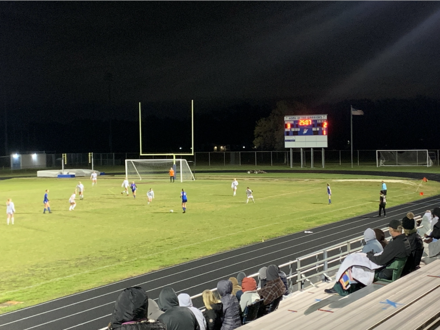 Varsity girls win the semi-finals game with a score of 3-2 against Countryside High School.