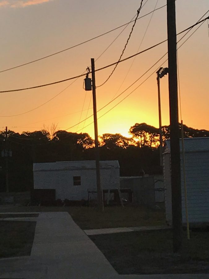 Beautiful sunrise here at Osceola