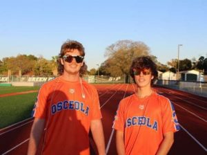 Tyler and Dillon Secor take a quick picture at St. Pete High School before the game on March 25th