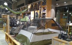 REI has large supply of outdoor gear in its store.