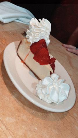 Strawberry cheesecake from the Cheesecake Factory, at Countryside Mall in Clearwater, FL.