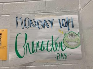Students prepare for the upcoming festivities of homecoming week. The first day is character day!